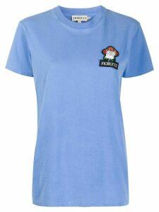 Fiorucci beaded mushroom logo embroidered T-shirt - Blue