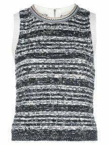 Alice+Olivia Reva textured stitch top - Black