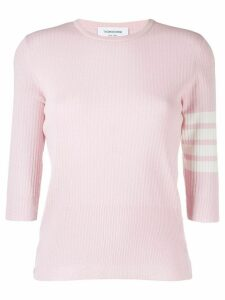 Thom Browne 4-bar Mesh Stitch Tee - PINK