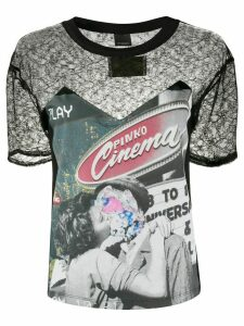 Pinko lace chest panel T-shirt - Black