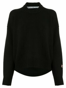 Alexander Wang sleeve patch knitted jumper - Black