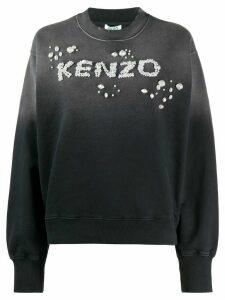 Kenzo logo-embellished ombré sweatshirt - Black