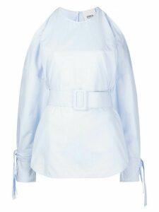 Erika Cavallini cold shoulder shirt - Blue