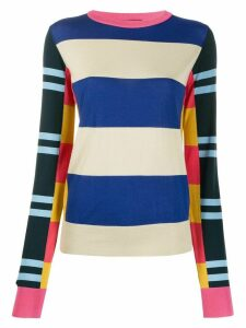 colville long sleeve block stripe sweater - Blue