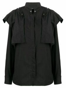 Diesel layered snap-button shirt - Black