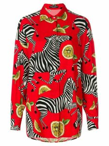Dolce & Gabbana zebra & lemon print shirt - Red