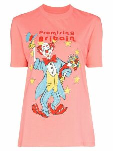 Martine Rose clown print T-shirt - ORANGE