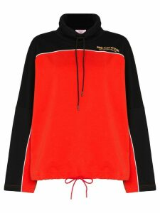 Martine Rose batwing hooded fleece - Red