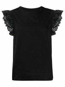 Philosophy Di Lorenzo Serafini lace trim T-shirt - Black