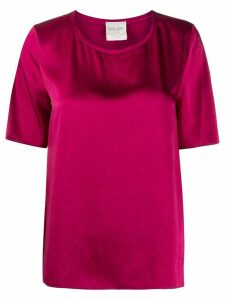 Forte Forte relaxed fit satin T-shirt - Red