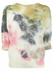 MSGM tie-dye intarsia jumper - NEUTRALS