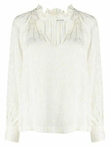 Masscob v-neck loose-fit blouse - White