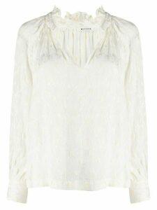 Masscob v-neck loose-fit blouse - White