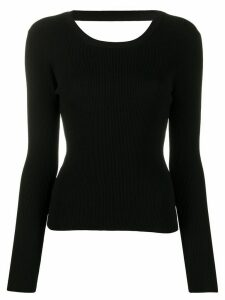 P.A.R.O.S.H. cut-out ribbed jumper - Black