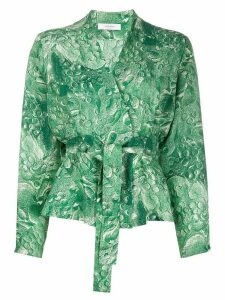 Roseanna Gemma abstract-print blouse - Green