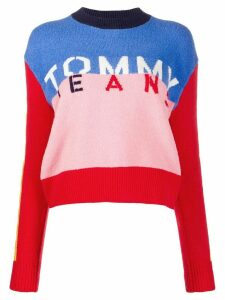 Tommy Jeans colour-block logo jumper - PINK
