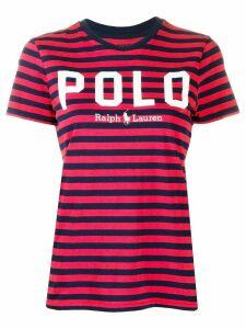 Polo Ralph Lauren striped logo T-shirt - Red
