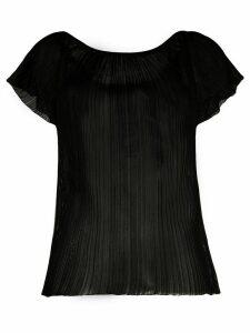 Missoni short sleeved sheer blouse - Black