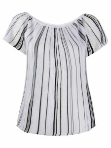 Missoni scoop neck striped knit top - White