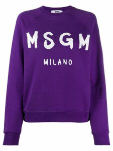 MSGM logo print sweatshirt - PURPLE