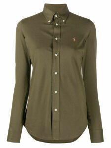 Polo Ralph Lauren logo embroidered cotton shirt - Green