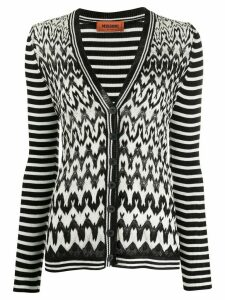 Missoni V-neck geometric knit cardigan - Black