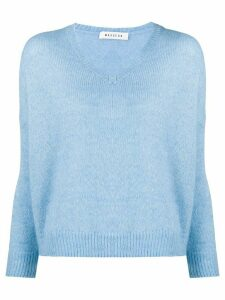 Masscob v-neck oversized jumper - Blue