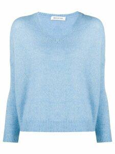 Masscob v-neck oversized jumper - Blue
