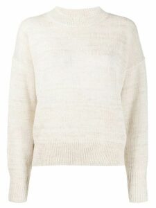 Isabel Marant Étoile crew neck long-sleeved jumper - NEUTRALS