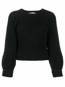 Maison Flaneur long-sleeve fitted jumper - Black