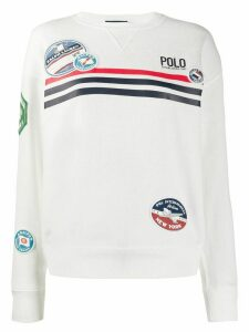 Polo Ralph Lauren patch embroidered sweatshirt - White