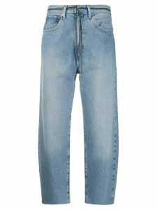 Levi's: Made & Crafted high-waisted cropped jeans - Blue