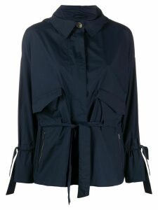 Herno drawstring-waist hooded jacket - Blue