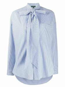Jejia pinstriped pussy bow shirt - White