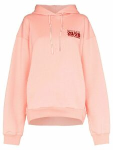 Martine Rose embroidered logo hoodie - ORANGE