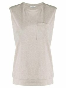 Peserico jersey tank top - NEUTRALS