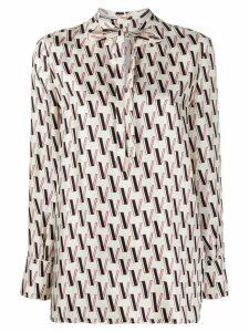 Valentino VLOGO printed blouse - White