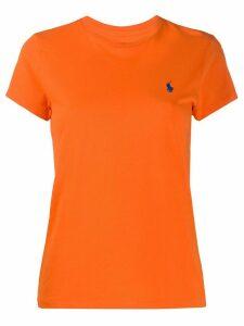 Polo Ralph Lauren logo embroidered crew neck T-shirt - ORANGE