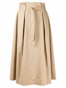 Peserico paperbag waist skirt - NEUTRALS