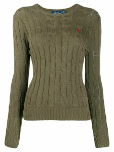 Polo Ralph Lauren cable knit logo-embroidered jumper - Green