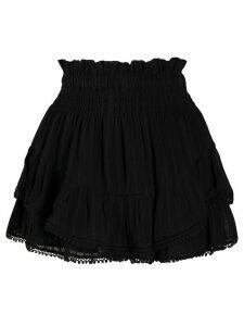 Isabel Marant Étoile ruched layered shorts - Black