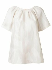 Lee Mathews Alexa abstract print blouse - White
