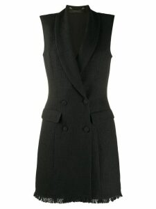 Federica Tosi bouclè double-breasted dress - Black