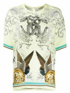 Roberto Cavalli Hybrids Animals print T-shirt - Yellow
