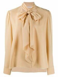 Chloé pussy-bow blouse - NEUTRALS