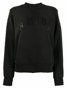 AMIRI logo patch sweatshirt - Black