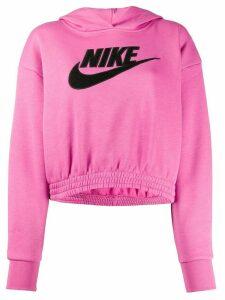 Nike long sleeved Nike Swoosh logo hoodie - PINK