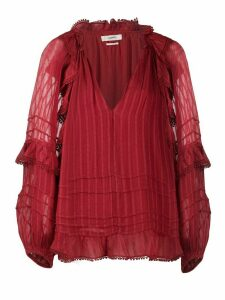 Isabel Marant Étoile striped peasant blouse - Red