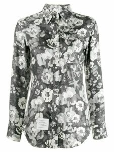 Thom Browne floral button down shirt - Grey