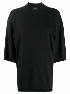 Maison Flaneur oversized short-sleeve jumper - Black